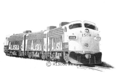 Alaska Railroad #1508 art print