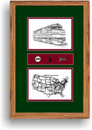 amtrak 400 railroad art print