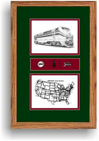 amtrak 91 railroad art print