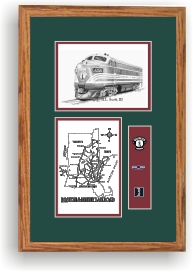 Boston & Maine railroad 4266 art print