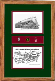 Baltimore and Ohio 5300 art print framed in style F