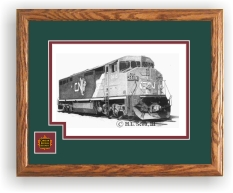 Canadian National Railroad 2445 art print framed in style D