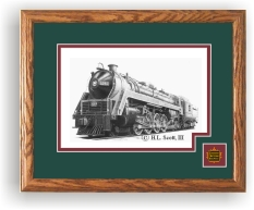 Canadian National Railroad 6060 art print framed in style D
