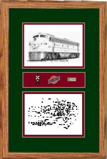 Chicago and North Western Railroad 5025 art print framed in style F