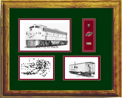 Chicago and North Western Railroad 5025 art print framed in style G
