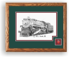 Canadian Pacific 2317 railroad art print framed in style D
