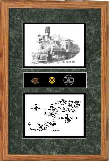 Colorado and Southern 71 art print framed style F