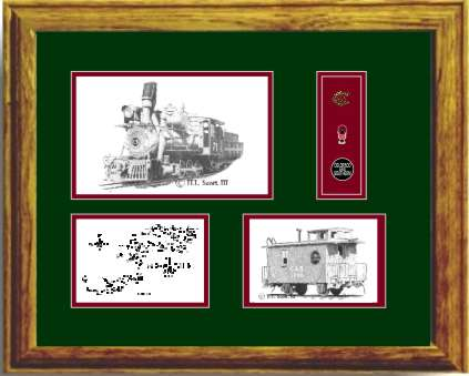 Colorado and Southern Railroad 71 art print framed in style G