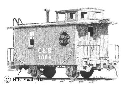 Colorado and Southern caboose