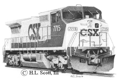 CSX Railroad 7715 art print