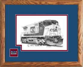 CSX Railroad 7715 art print framed in style D