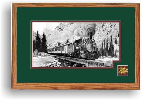Durango and Silverton Narrow Gauge Railroad 473 art print framed