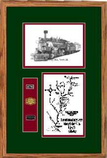 Durango and Silverton Narrow Gauge Railroad 476 art print framed style F