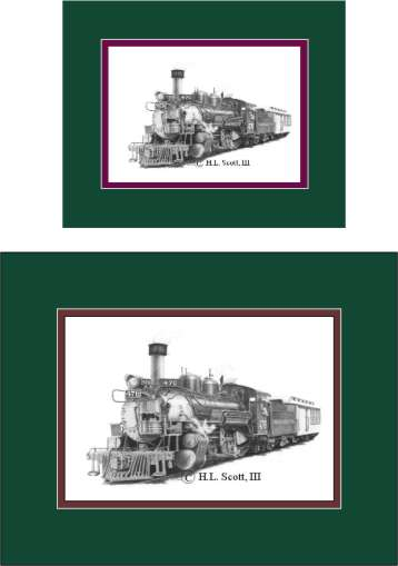 Durango and Silverton Narrow Gauge Railroad #476 art print matted