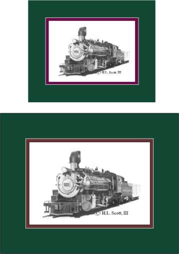 Durango and Silverton Narrow Gauge Railroad #480 art print matted