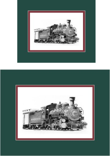 Durango and Silverton Narrow Gauge Railroad #481 art print matted