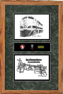 great northern railway 501 art print framed style F