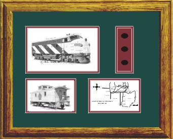 Grand Trunk Railroad 9020 art print framed in style G
