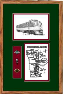 Illinois Central Railroad #4003 art print framed in style F