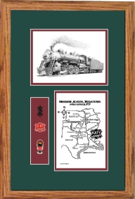 MKT railroad #406 art print framed is style F