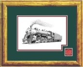 MKT railroad art print framed in style B
