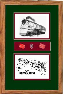 Milwaukee Road Railroad #100 art print framed in style F