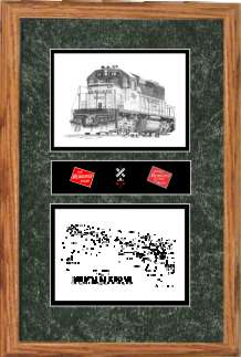 Milwaukee Road Railroad #141 art print framed in style F