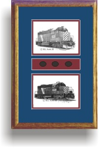 Montana Rail Link Railroad art prints framed in style F