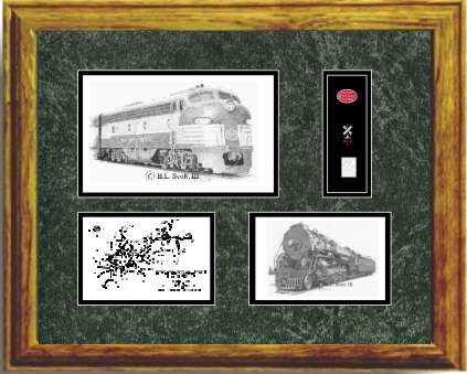 New York Central #4080 art print framed in style G