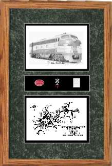 New York Central Railroad #4080 art print framed