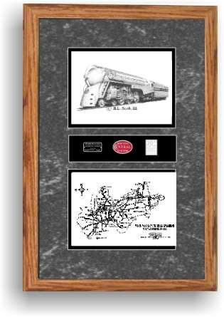 New York Central 5451 art print framed in style F