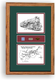 Nickel Plate 765 art print framed in style F