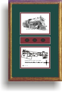 Northern Pacific Railway 1356 art print framed in style F