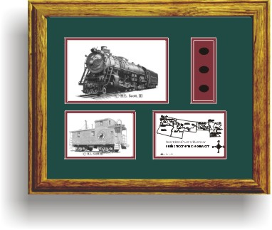 Northern Pacific Railway 2689 art print framed in style G