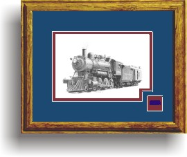 Northern Pacific Railway 328 art print framed in style D