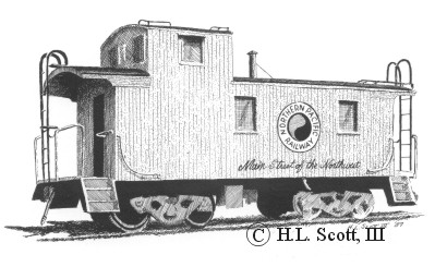 Northern Pacific caboose