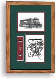 Norfolk Southern Railroad #2505 art print