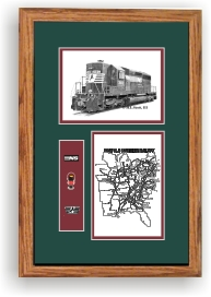 Norfolk Southern Railroad #3182 art print