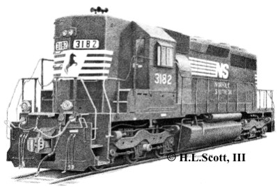 Norfolk Southern Railroad 3182 art print