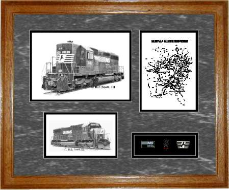 Norfolk Southrn Railroad framed art print