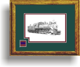 Northwestern Pacific Railroad 112 art print framed in style D