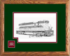 Rock Island Railroad 1260 art print framed in style D