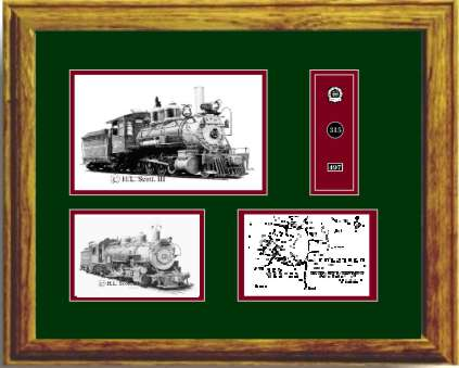 Denver and Rio Grande Western Railroad #315 art print framed style G