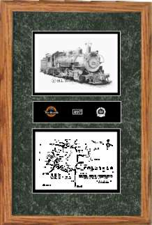 Denver and Rio Grande Western Railroad #497 art print framed style F