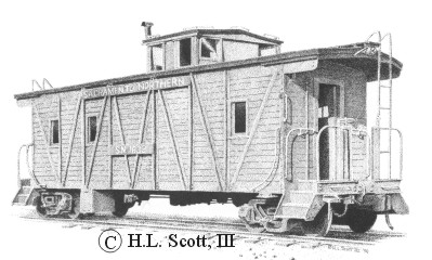 Sacramento Northern Railroad caboose