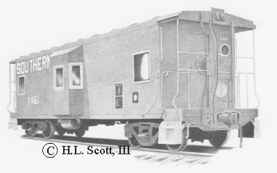 Southern Railroad caboose