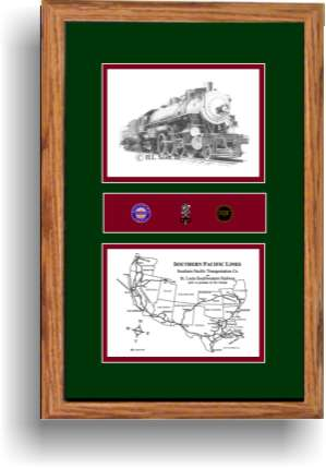 Southern Pacific Railroad 2472 art print framed in style F