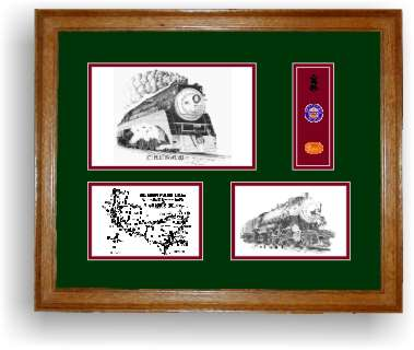 Southern Pacific Railroad 4449-2474 framed art prints