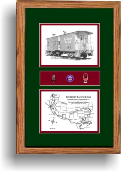 Southern Pacific Railroad art print  Caboose