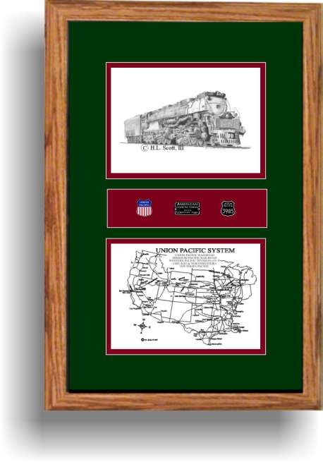 UnionPacific 3985 railroad art print